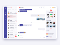 Chat/Messenger - Web App message group chat chating web app messenger chat dashbord design minimal clean ux ui