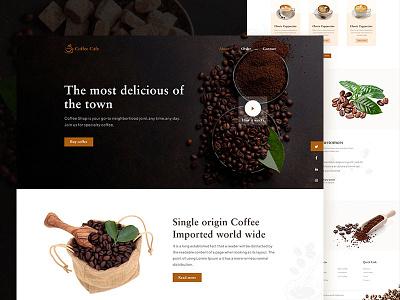 Coffee Landing Page simple clean balck product design fresh design coffee user inteface flat website web ux typography ui design