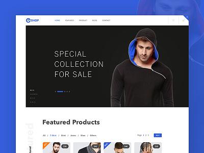 E-Commerce Website Landing Page clean ux ui sale page online shop online store website e-shop product landing  page ecommerce home page ecommerce