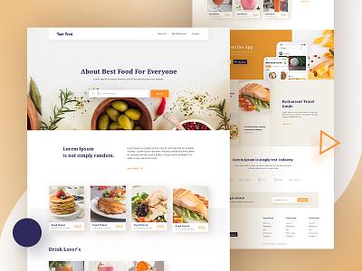 Restaurant Landing Page. drink ux ui website typography minimal teste food food listing landing page restaurant landing page