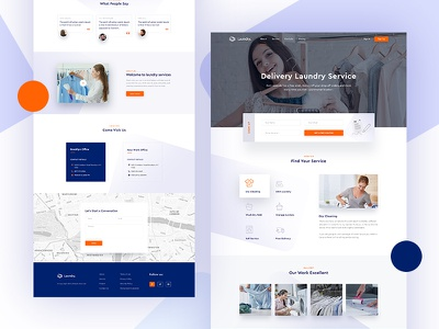 Laundry Landing Page clean white fresh clothes branding website ux ui homepage washing cleanwashing cleaning landing page laundry laundry landing page