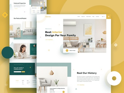 Interior Landing Page product interior landing page interior home furniture architechture modern minimal clean house design clean landing page website ui ux