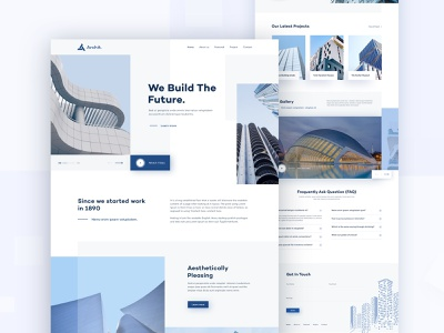 Architecture Website user inteface property building architecture landing page architecture website architecture real estate properties interior architect agency minimal homepage clean landing page website ux ui