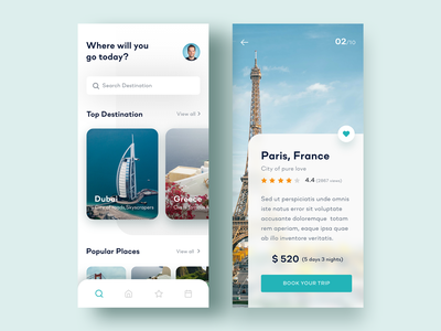 Travel App Concept traveling mobile app app design tour travel app travel app agency design clean ux ui