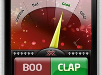 Detail shot from the Official X Factor app