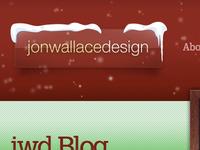 It's snowing on the jonwallacedesign website!