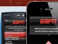 Detail examples of ESPN mobile voting app