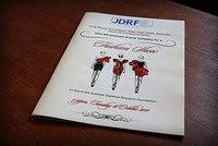 JDRF fashion show programme