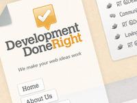 Development Done Right branding