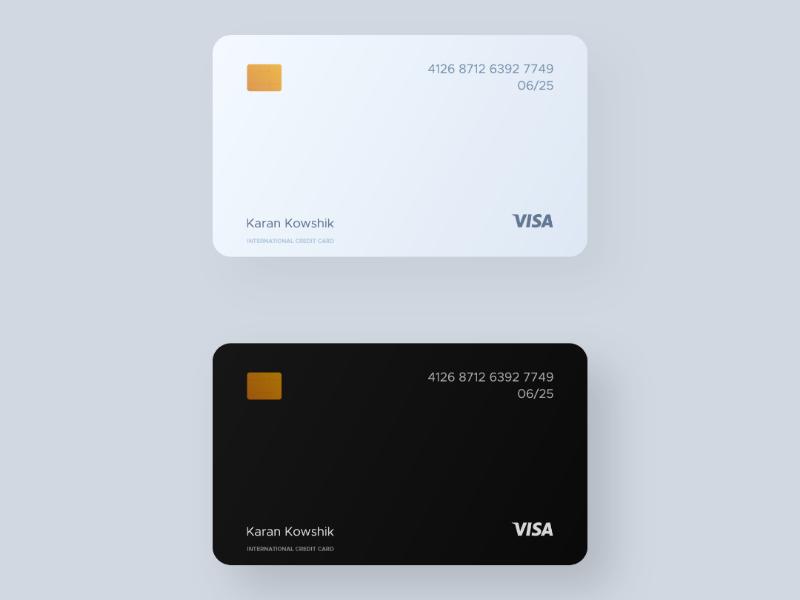 Clean Credit Cards design cards concept mockup