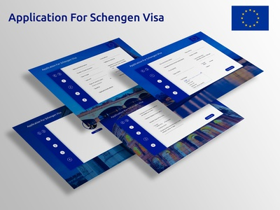 Schengen Visa Application Form Web Concept design