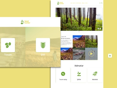 Seed Center Concept Web Design