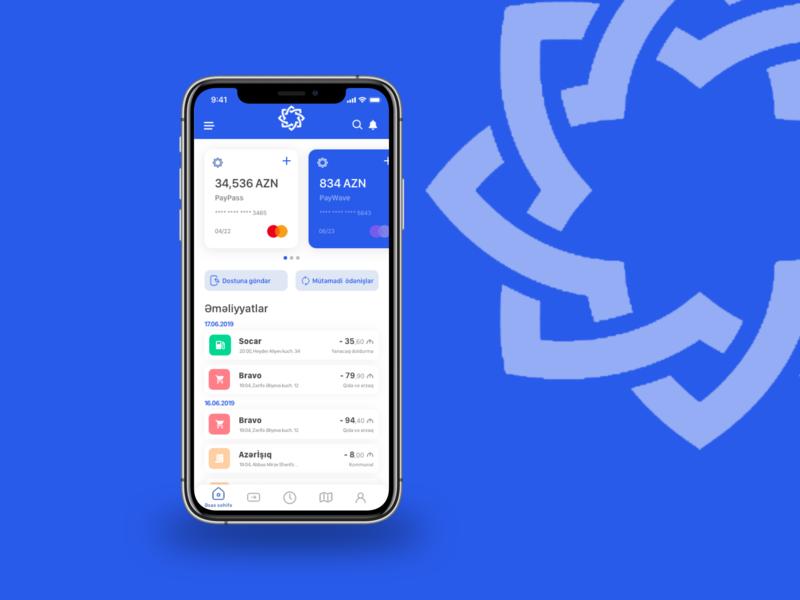 Concept redesign for International Bank of Azerbaijan app ux principle design dribbble sketchapp banking app blue uidesign uiux azerbaijan bank app bank