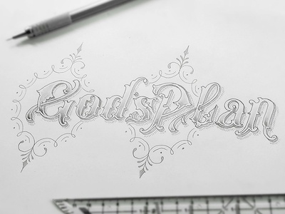 God's Plan Handlettering