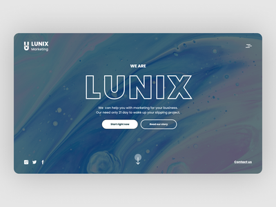 UI concept for a marketing agency agency website agency landing page design landing page landing minimal ux ui concept art concept design