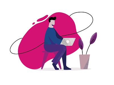 Remote work freelance procreate design art illustration
