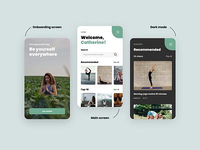 Yoga App Concept minimal concept art app yoga ux ui design concept
