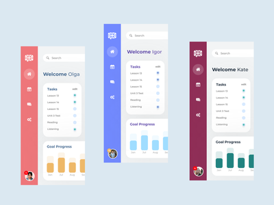 ui concept for language app dashboard clear clean minimal app concept art design ux concept ui