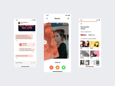 ui concept for dating app mobile app concept art minimal ux ui design concept
