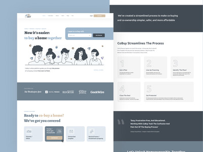 Landing page with illustartions UI concept + 15 wireframes landing mobile landing page design landing page concept art minimal ux ui design concept