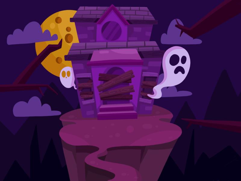 Trick or Treat! vector vectorart ghost design magic digital concept yaffa illustration colombia house halloween