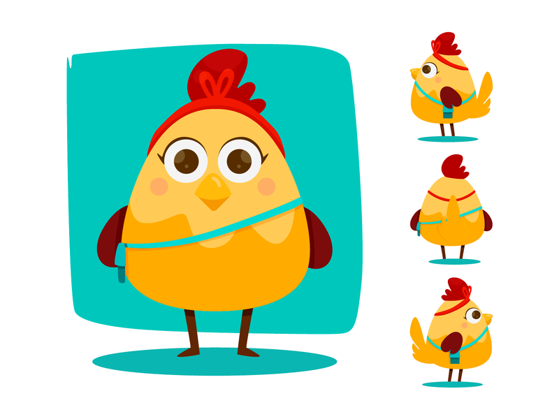 Kloe mom animal girl character design doodle digital concept yaffa illustration colombia character chicken hen