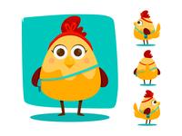 Kloe mom animal girl character design doodle digital concept yaffa illustration colombia character chicken hen