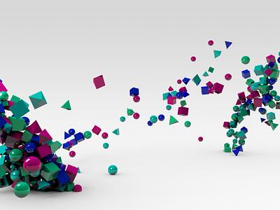 Attraction & Shapes 🧲 texture reflexion c4d render 3d art shapes 3d