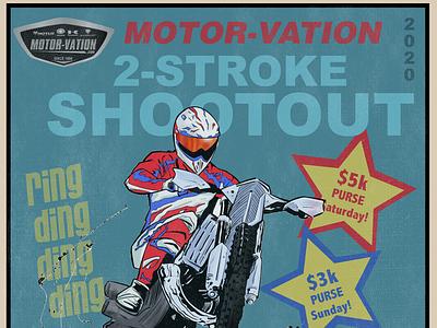 2020 2 Stroke Shootout Poster 01 brochure vector typography poster print marketing illustrator design branding illustration