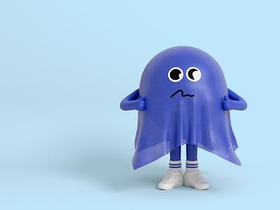 Mr Raincoat cartoon 3d character character design illustration nike blue