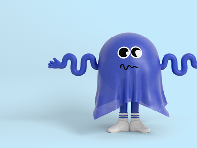 Mr Raincoat 2 cartoon 3d character character design illustration nike blue