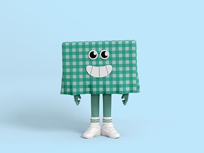 Mr Tablecloth cartoon 3d character character design illustration nike green