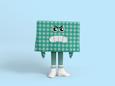 Mr Tablecloth 02 cartoon 3d character character design illustration nike green