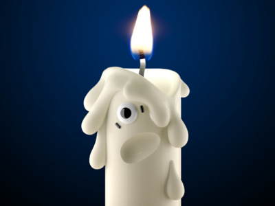 Half life candle burnt candle character illustration character design 3d character toydesign 3d 3d illustration 3d render