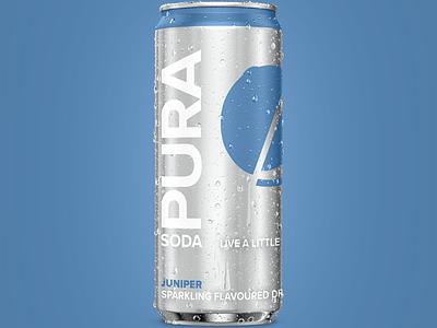 Pura pack render spritz 3dmodeling 3d photorealism 3d packaging 3d render designer design illustration render 3d artist cooldrink can softdrink