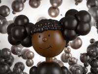 Dark chocolate bubble