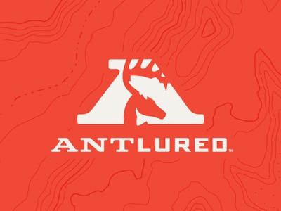 Antlured Brand apparel logo branding outdoors fish deer