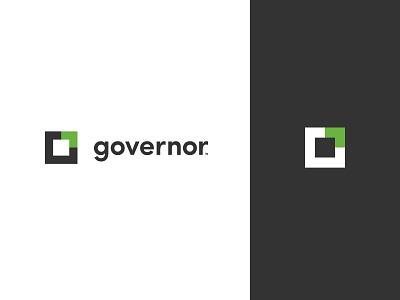 Governor Logo green black cloud cms branding