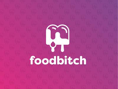 Foodbitch logo food gradient branding
