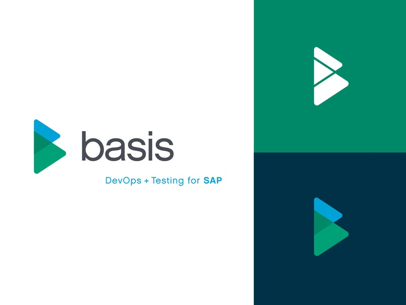 Basis Technologies tech company typography design blue logo branding