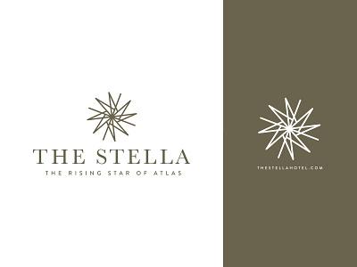 The Stella Hotel star logo hospitality hotel star design logo branding
