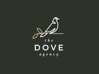 The Dove Agency marketing agency typography illustration black vector logo branding