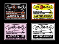Lazereyes Stickers
