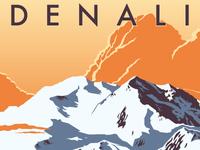 Denali Travel Poster