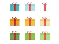 Flat Gifts Set presents christmas year new happy bundles gif icons pack flat icons clean bundle 2019 icons web vector mobile minimal illustration icon flat