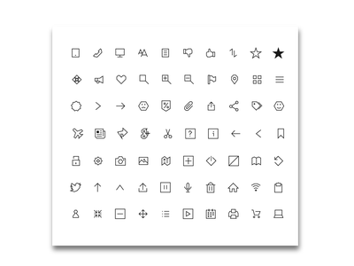 Icon Pack - Sharp Corners (Black) design clean bundles app web vector mobile minimal illustration icons pack icons icon flat icons flat bundle 2019