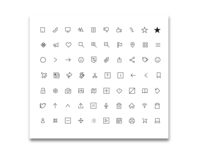 Icon Pack - Sharp Corners (Black) design clean bundles app web vector mobile minimal illustration icons pack icons icon flat icons flat bundle 2019
