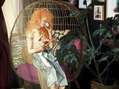 Read lofi illustration artwork