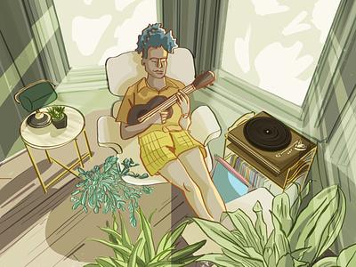 Chill lofi artwork illustration