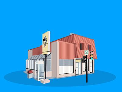Diners series illustrator vecto burger shop diners flat illustration